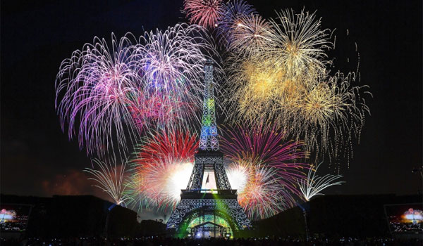 Festa do Ano Novo em Paris