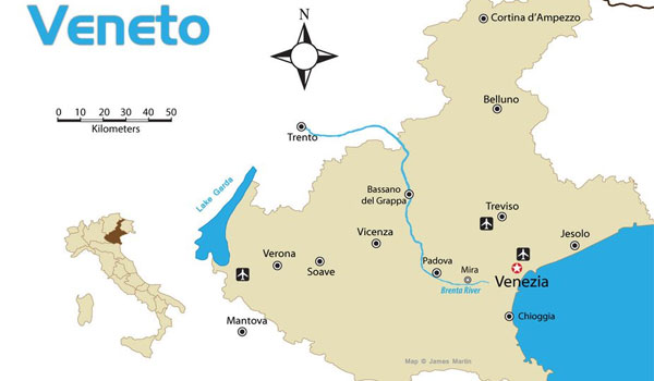 Véneto map
